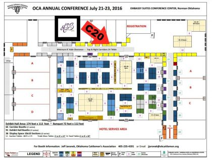 OCA Annual Conference Map 2016 with AIS